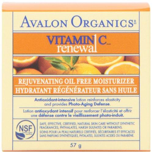 Avalon Organics Vitamin C Renewal Rejuvenating Oil-Free Moisturizer, 2 Ounce Bottle