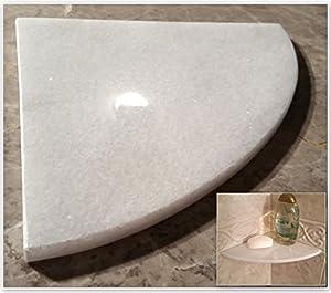 Amazon Com 8 Quot Marble Shower Corner Shelf Crystal Ice
