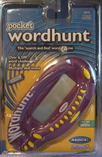 Electronic Pocket Wordhunt Handheld Game - By: Radica - 1