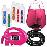 Pink Fascination 700 Spray Tanning Kit with Naked Sun Airbrush Tan Solution and Pink Tent