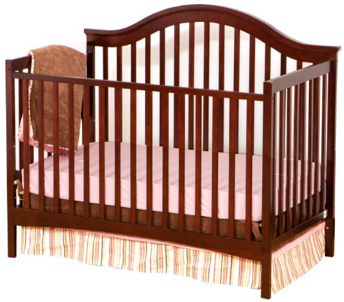 Stork Craft Ravena Fixed Side Convertible Crib, Cherry