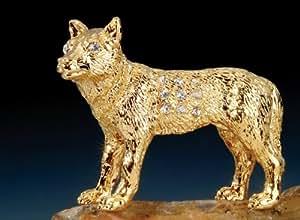 Wolf Pewter Swarovski Crystal Figure