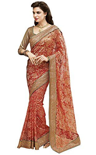 RAJGURU FANCY SAREES COLLECTIONS.-Red-RGDM4020-VU-Georgette
