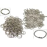 200 Split Rings Ball Chains Keychain Nickel Plated