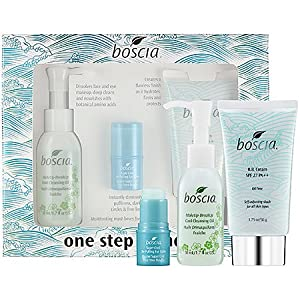 boscia One Step Wonders = This set contains: 1.7 oz MakeUp-BreakUp Cool Cleansing Oil , - 1.75 oz BB Cream SPF 27 PA++ , - 0.14 oz Super-Cool De-Puffing Eye Balm,
