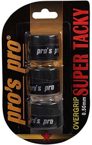 3 Overgrip Super Tacky Tape schwarz Tennis Griffband