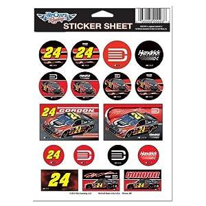 Buy Jeff Gordon #24 5X7 Sticker Sheet by WinCraft