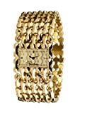 Roberto Cavalli Oryza - Gold Plated Signature Bracelet Dress Watch