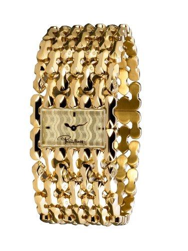 Roberto Cavalli 'Oryza' 7253124017 - Reloj de mujer de cuarzo, correa de acero inoxidable color oro