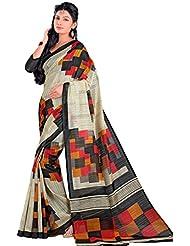 Samskruti Sarees Women Fancy Beige Art Silk Saree(12043)