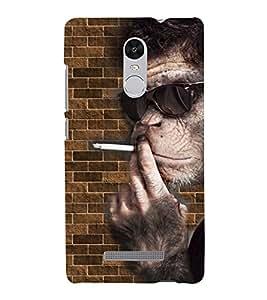 PRINTVISA Smoking Chimpange Case Cover for Xiaomi Redmi Note 3