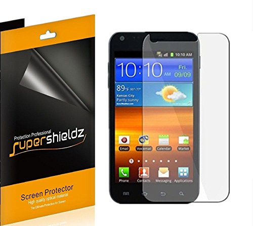 [6-Pack] SUPERSHIELDZ- High Definition Clear Screen Protector For Samsung Galaxy S2 (Sprint, Boost Mobile, Virgin Mobile, US Cellular, BlueGrass Cellular) + Lifetime Replacements Warranty [6-PACK] - Retail Packaging from Supershieldz