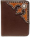 Nocona Men's Beaded Concho Bi-Fold Wallet