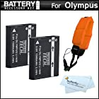 2 Pack Battery Kit Bundle For Olympus TOUGH TG-1 iHS, TG-1iHS, TG 1 iHS, TG-2 iHS, TG-2iHS, TG-3, TG-4 Waterproof Digital Camera Includes 2 Extended Replacement (1500Mah) LI-90B, LI-92B Batteries + Floating Strap + MicroFiber Cleaning Cloth