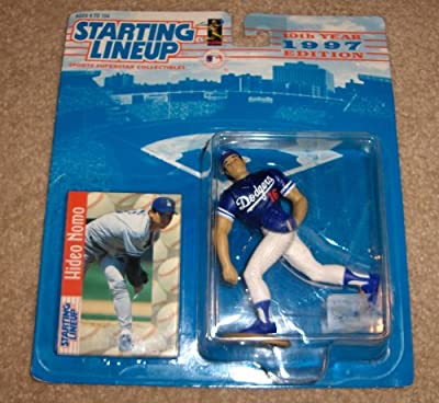 1997 - Kenner - Starting Lineup - 10th Anniversary - MLB - Hideo Nomo #16 - Los Angeles Dodgers - Vintage Action Figure - w/ Trading Card - Limited Edition - Collectible