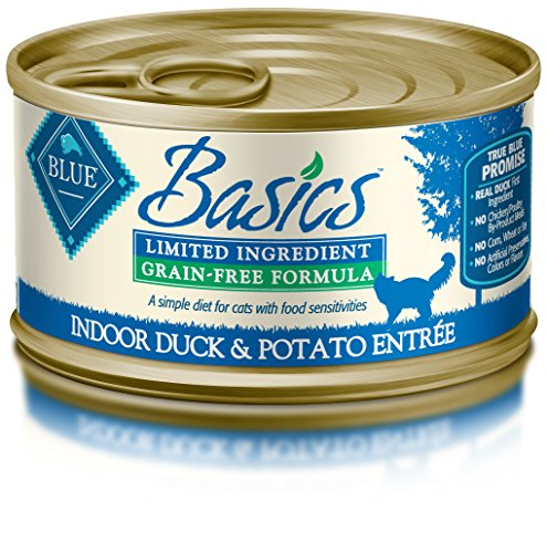 Blue Buffalo Basics Cat Duck Entree Wet Cat Food, 3 oz Can, Pack of 24 (Blue Buffalo Canned Cat compare prices)