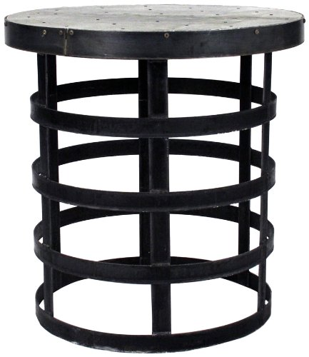 Buy Low Price ZENTIQUE 1002 Recycled Metal Round End Table (B006MPSIGU)