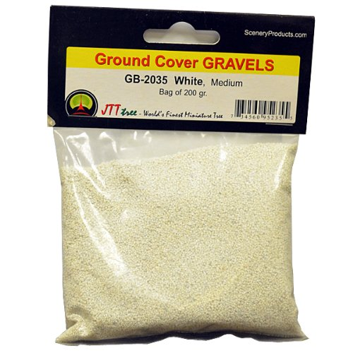 JTT Scenery Products Ballast and Gravel, White, Medium - 1