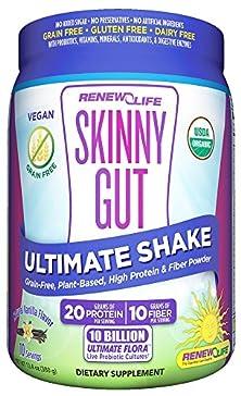 buy Renew Life - Skinny Gut Ultimate Shake Powder Canister Vanilla - 14.5 Oz