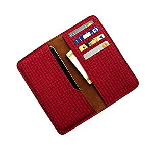 i-KitPit : PU Leather Wallet Flip Pouch Case Cover For Xiaomi MI3 (RED)