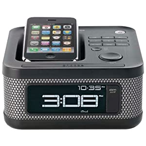 memorex mi4604p 30 pin ipod iphone alarm clock speaker dock electronics. Black Bedroom Furniture Sets. Home Design Ideas
