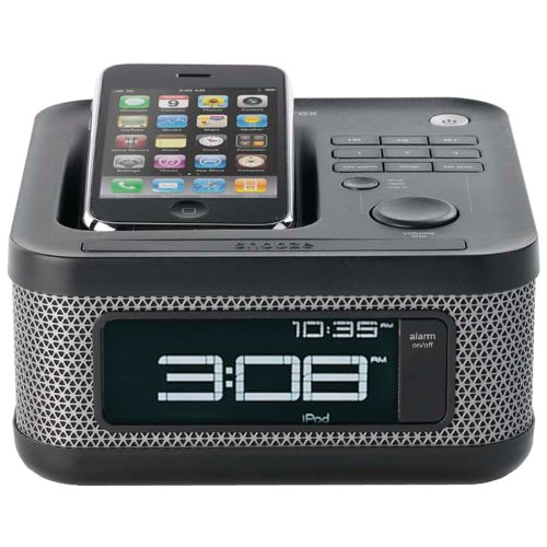 memorex mi4604p 30 pin ipod iphone alarm clock speaker dock. Black Bedroom Furniture Sets. Home Design Ideas