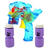 Bubble Whale Toy Bubble Blowing Gun W/ 2 Bottles Of Bubble Liquid (Colors May Vary)