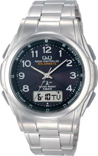 [シチズン キューアンドキュー]CITIZEN Q&Q 腕時計 SOLARMATE (ソーラーメイト) 電波ソーラー アナログ表示 クロノグラフ 5気圧防水 ブラック MCS1-302 メンズ