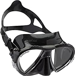 Cressi Matrix 2-Lens Diving Mask (Black Silicone/Black)