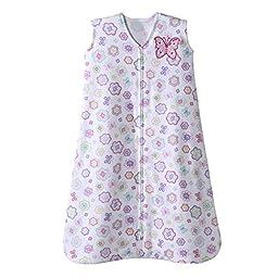 Halo Sleepsack 100% Cotton Wearable Blanket, White Floral, X Large