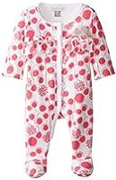 Petit Lem Baby-Girls Newborn Perfume Diva Floral Sleeper