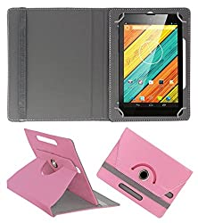 ACM ROTATING 360° LEATHER FLIP CASE FOR DIGIFLIP PRO XT712 TAB TABLET STAND COVER HOLDER LIGHT PINK