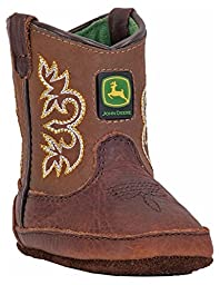 John Deere JD0342 Pull On Crib Boot (Infant), Mesquite Leather, 2 M US Infant