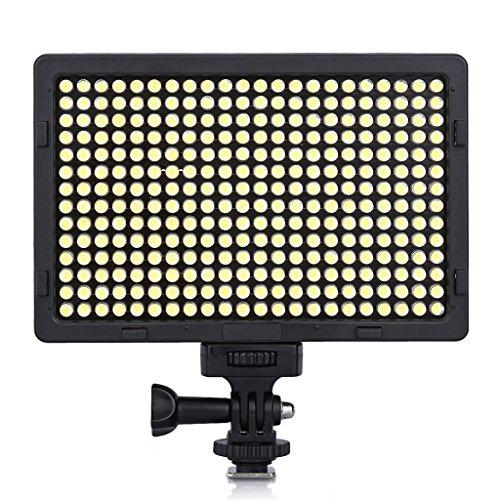 Excelvan PT-308S Pannello 308 LED Regolabile con Display LCD Video 5600K Portatile Dimmerabili Ultrasottile Luce Sulla Fotocamera Pad per Canon Nikon Pentax JVC DSLR DV Camcorder