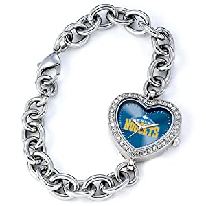 Ladies NBA Denver Nuggets Heart Watch by Jewelry Adviser Nba Watches