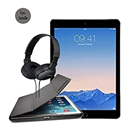 Apple Ipad Air 2 Space Gray 64gb Bundle with Case for Ipad Air 2 and Sony Headphone