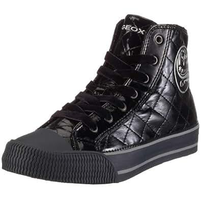 Geox J Movie J9321Y, Mädchen Sneaker, schwarz, (blk/silver C0039), EU 31