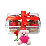 Valentine Chocholik Luxury Chocolates - Gift For Your Loved With Teddy And Rose