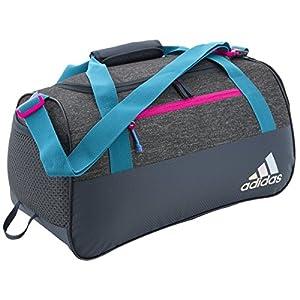 adidas Squad III Duffel Grey Heather / Deepest Space / Solar Mint / Solar - adidas All Purpose Duffels