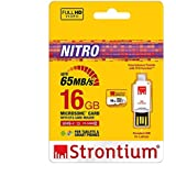 Strontium Nitro  16 GB 433x microSDHC Memory Card (Class10) With OTG Card Reader