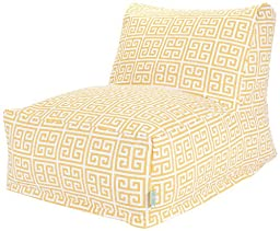 Majestic Home Goods Towers Bean Bag Chair Lounger, Citrus