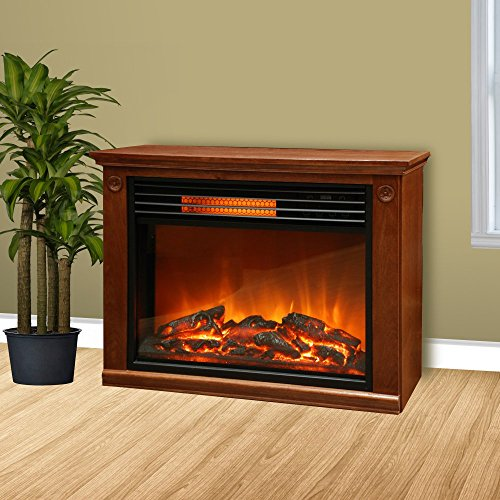 Lifepro-by-Lifesmart-LS2002FRP13-Infrared-Fireplace-Brown
