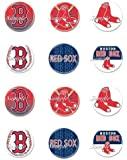 Boston Red Sox Cupcake Toppers - Set of 12