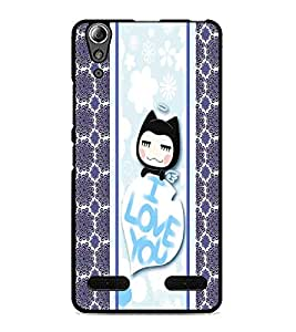 PrintDhaba Kitty D-2783 Back Case Cover for LENOVO A6000 (Multi-Coloured)