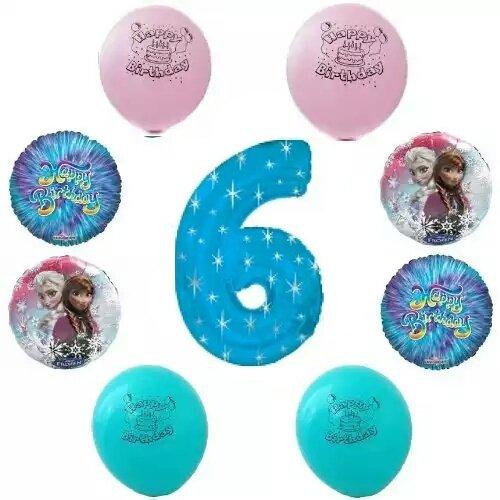 Disney Frozen Happy 6Th Birthday Party Balloon Decoration Kit