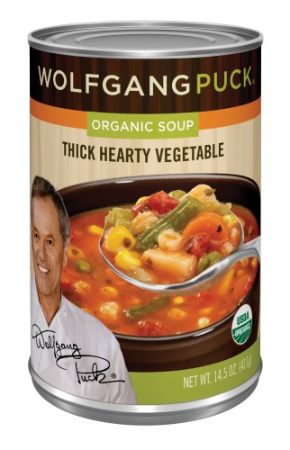 Wolfgang Puck Organic Thick Hearty Vegetable Soup, 14.5-Ounce Cans (Pack of 12)