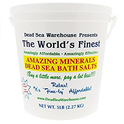 Dead Sea Warehouse Dead Sea Amazing Minerals Bath Salts Bucket, 5 lb