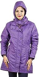 Hiver Women's Nylon Jacket (Purple, XL)