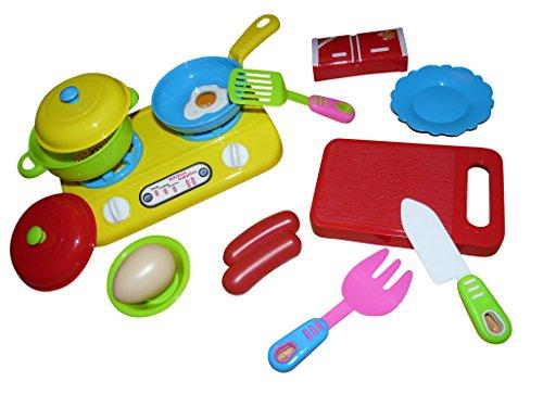 A133 14 pz. Cucina Game Set incl. Stufa e pentola per la piccola bambole cucina