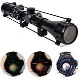 Zoom 3-9X 40 Lunette Visée Telescope Rouge et Vert Lumineux Mil Dot Fusil de Chasse Tactique Optique Portée